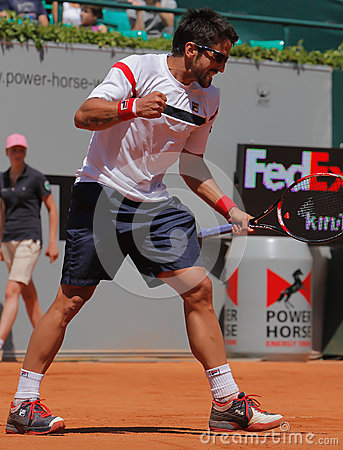 Janko Tipsarevic Tennis Player celebrates Editorial Image