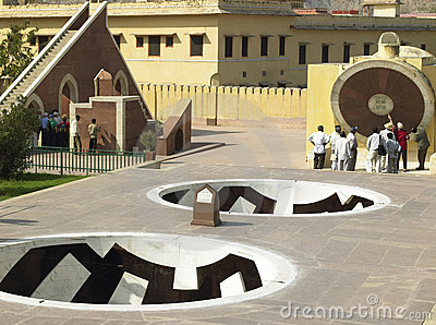 Jantar Mantar Observatory - Jaipur - India Editorial Stock Photo