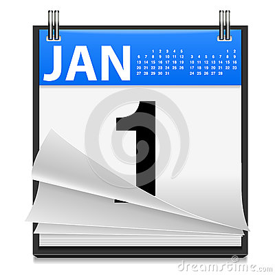 January 1st New Year Icon