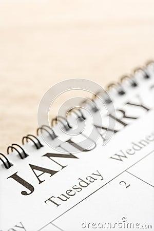 January on calendar.