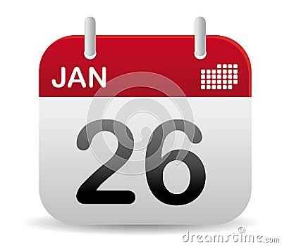 January calendar stand up