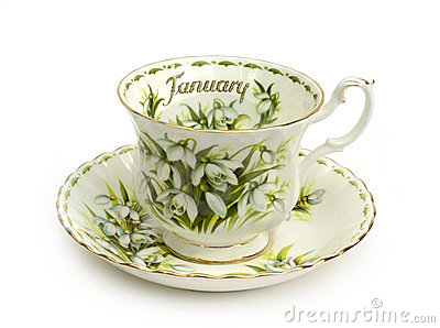 January Cup and Saucer