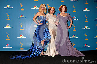 January Jones,Christina Hendricks,Elisabeth Moss,CHRISTINA HENDRICK Editorial Stock Image