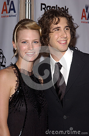 January Jones,Josh Groban Editorial Image