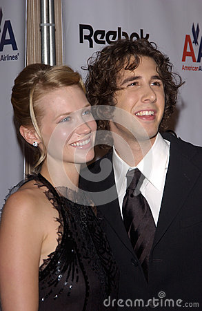 January Jones,Josh Groban Editorial Photo
