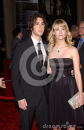 January Jones,Josh Groban Editorial Stock Image