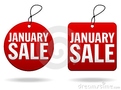 January Sale Tags