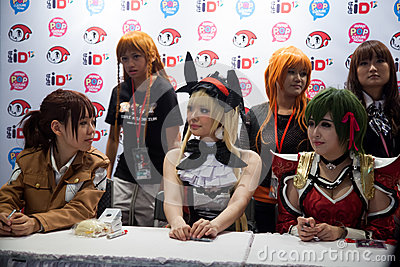 Japan Anime Stars at Autograph Session in Anime Festival Asia - Editorial Stock Image