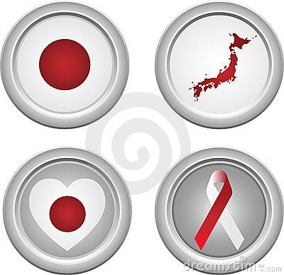 Japan Buttons