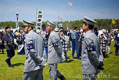 Japan city officer patrol Editorial Stock Photo