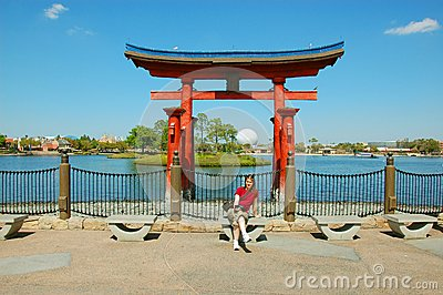 Japan in Epcot Editorial Stock Image