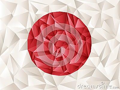 Japan flag origami