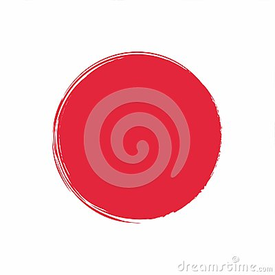 Free Japan Flag Painted With Ink. Red Sun. Stock Image - 115424361