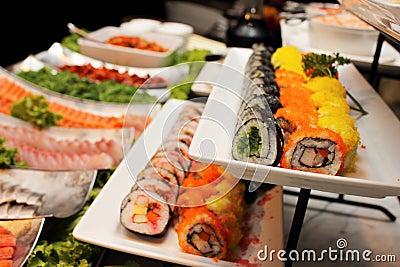 Japan food arrangement