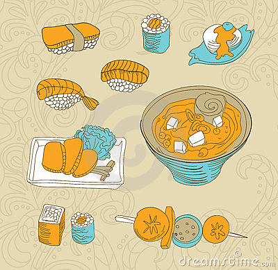 Japan food icons