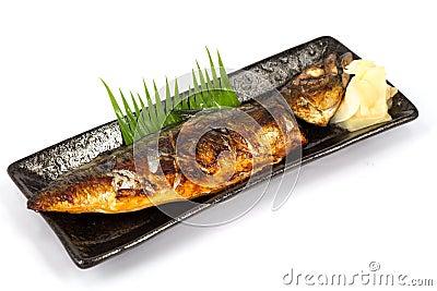 Japan food saba fish