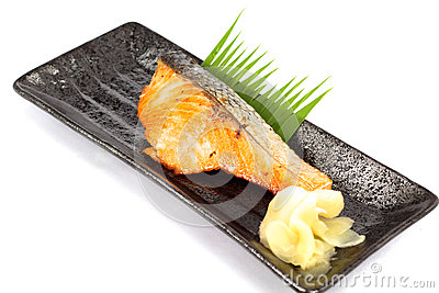 Japan food salmon fish gilled