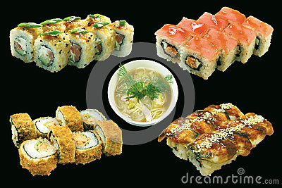 Japan food set isolated