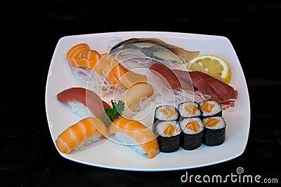 Japan food sushi on plate