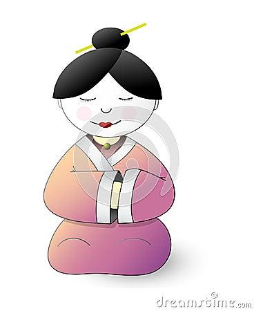 Japan geisha cartoon