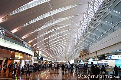 Japan : Haneda Airport Editorial Photo