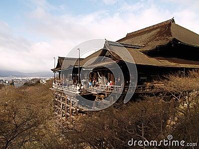 Japan kiyomizukyoto tempel Redaktionell Foto