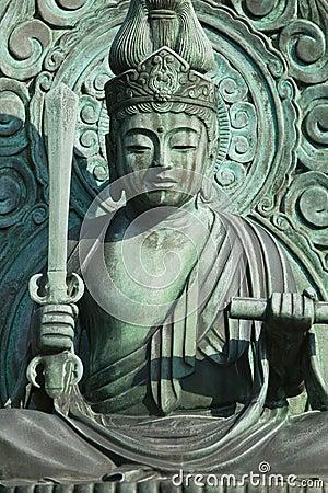 Japan Kyoto Tenryuji Temple bronze statue