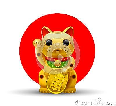 Free Japan Lucky Cat Golg Stock Photos - 97479213