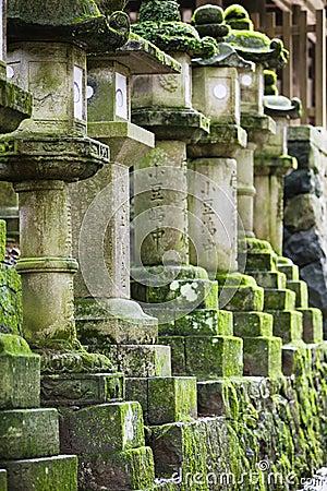 Free Japan Mara Row Of Stone Lanterns In Garden Stock Photography - 30848792
