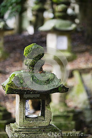Free Japan Mara Stone Lantern In Garden Stock Photo - 30848790