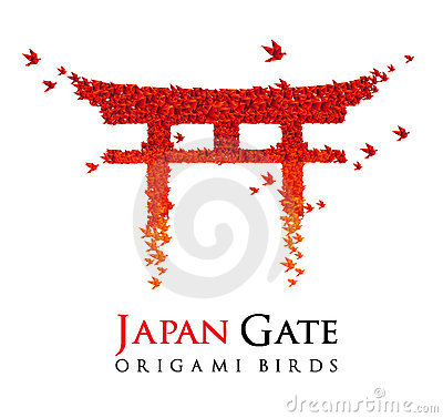 Free Japan Origami Gate Torii Stock Photo - 20301990