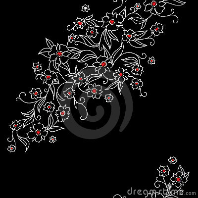 Japan pattern with flowers