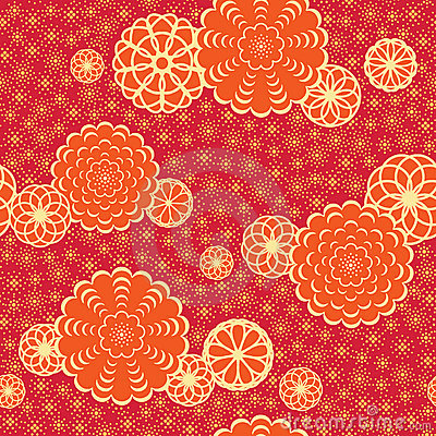 Japan Pattern With Flowers Stock Photos - Image: 21134933