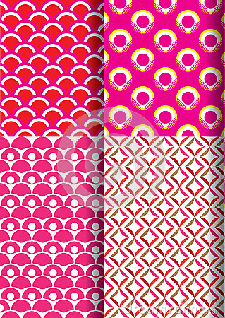 Japanese traditional red pattern set royalty free stock photography - Japan Pattern Set New 1 Stock Illustration Image 40809797