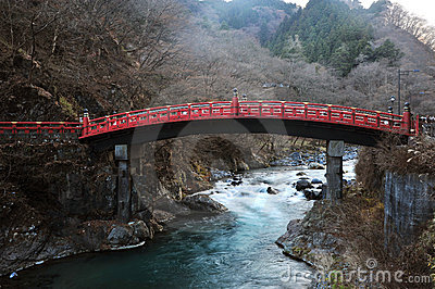 Japan red sacred bridge