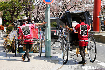 Japan : Rickshaw Editorial Stock Photo