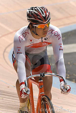 Japan Rider at Asian Cycling Championships 2012 Editorial Image
