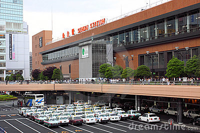 Japan : Sendai Station Editorial Stock Photo