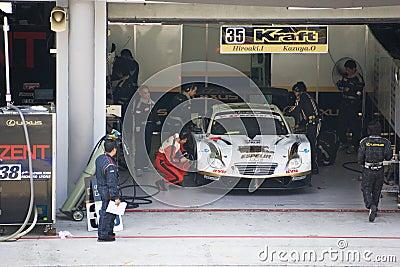 Japan Super GT 2009 - Lexus Team Kraft Editorial Stock Image
