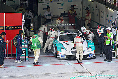 Japan Super GT 2009 - Lexus Team Petronas TOM s Editorial Photography