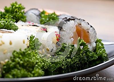 Japan sushi closeup