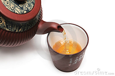 Japan teapot with a cup