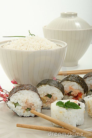Japan traditional food roll