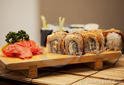 Japan traditional food - roll