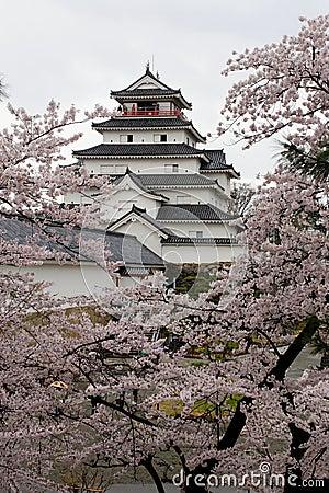 Japan : Tsurugajo Castle in Spring