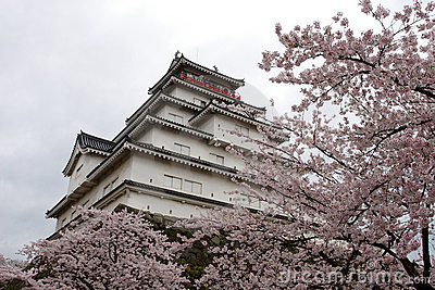Japan : Tsurugajo Castle in Spring
