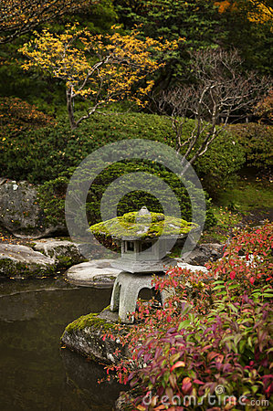 Japan water garden pagoda stock photo image 62169235 for Japanese garden colors
