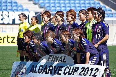 Japan women s national soccer team Editorial Stock Image