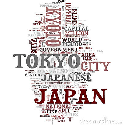 Japan word collage
