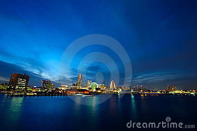 Japan Yokohama City wide view
